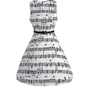 Dresses - 💎Just In💎Fit & Flare Sheet Music Swing Dress